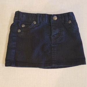 Little 77 Black Mini Skirt